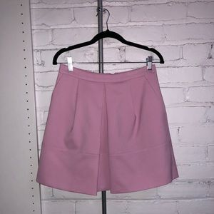 JCrew Pink Pleated A-line Skirt